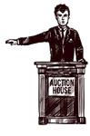 Auctions: An Auctioneer.